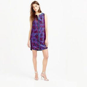 Sleeveless Midnight Floral Jacquard Shift Cocktail
